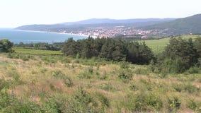 在沿海附近的空置土地在保加利亚 股票视频