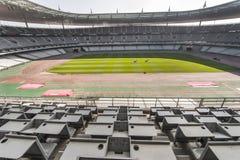 在法兰西体育场的新闻记者席 免版税库存照片