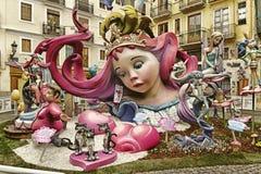 在法利亚斯的讽刺ninots木偶在巴伦西亚 库存图片