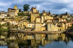 从在法国南部的可爱的中世纪村庄 图库摄影