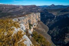 在法国南部的峡谷维登 免版税库存照片