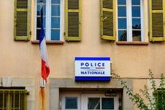 在法国的南部的国家警察 图库摄影