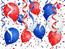 在法国的颜色的气球白色背景的 皇族释放例证