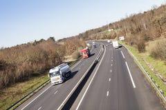 在法国自动路线的交通 图库摄影