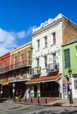 在法国街区的历史建筑在新奥尔良 免版税图库摄影