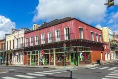 在法国街区的历史建筑在新奥尔良 库存照片