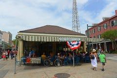在法国街区,新奥尔良的市场咖啡馆 免版税库存照片
