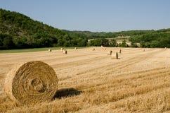 在法国领域的干草捆 免版税图库摄影