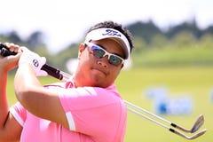 在法国高尔夫球的Kiradech Aphibarnrat打开2013年 免版税图库摄影