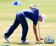 在法国高尔夫球的Thorbjorn Olesen打开2013年 库存照片