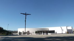 在法蒂玛圣所的高十字架  库存图片