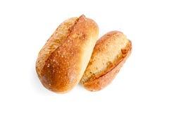 在法语二白色上添面包 免版税库存照片