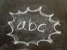 在泡影标志的词abc 免版税库存照片