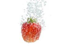 在泡影的草莓 库存图片