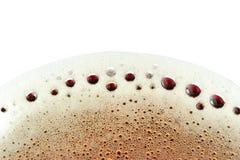 在泡沫腾涌的软饮料的泡沫 免版税图库摄影