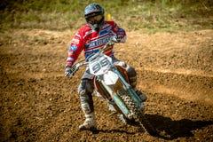 在波兰摩托车越野赛冠军波兰,格但斯克11 Septemeber的未定义车手2016年 库存照片