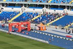在波兰跑的马拉松 库存图片
