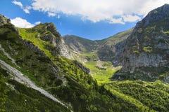 在波兰Tatra山的山坡 库存照片