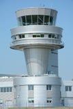 在波兹南Lawica机场的塔台 免版税库存图片