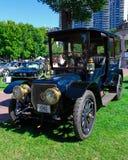1912年在波士顿共同的车展的Panhard Levassor 库存照片
