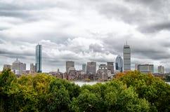 在波士顿地平线的风暴 库存图片