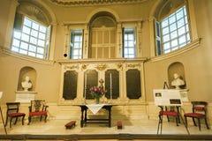 在波士顿马萨诸塞Chapel国王的法坛 库存照片