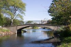 在波士顿` s广场的人行桥 库存照片