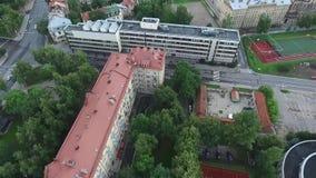 在波尔图葡萄牙乌贼属的空中城市定了调子视图 股票录像
