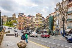 在波尔图街道在葡萄牙 免版税库存图片