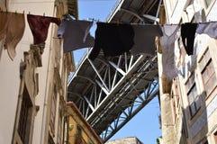 在波尔图附近桥梁  免版税图库摄影