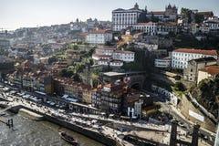 在波尔图,葡萄牙的看法 免版税库存照片