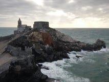在波尔图venere的城堡 免版税库存照片