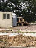 在波尔塔附近的拖拉机 免版税库存照片