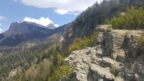 在波尔查诺山的峭壁  免版税图库摄影