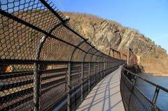 在波托马克河的桁架桥 图库摄影
