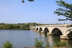 在波托马克河的桥梁 免版税图库摄影