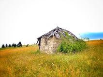 在波斯尼亚的mountaine的旅行 库存图片