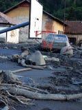 洪水在波斯尼亚 库存照片