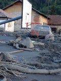 洪水在波斯尼亚 库存图片