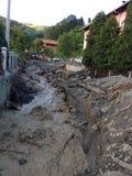 洪水在波斯尼亚 免版税库存图片