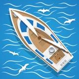 在波浪的游艇航行 库存图片