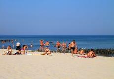 在波罗的海海岸的夏天在Zelenogradsk 库存图片