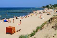 在波罗的海海岸的夏天 库存照片