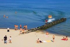 在波罗的海海岸的夏天 库存图片