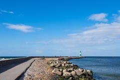 在波罗的海海岸的痣在Warnemuende,德国 图库摄影