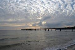 在波罗的海的云彩 免版税库存照片