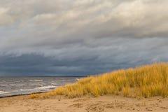 在波罗的海的冬天在里加 免版税库存照片