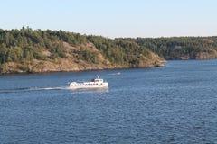 在波罗的海的小船 库存图片