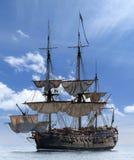 在波罗的海的帆船 库存照片