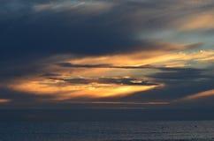 在波罗的海的日出 库存图片